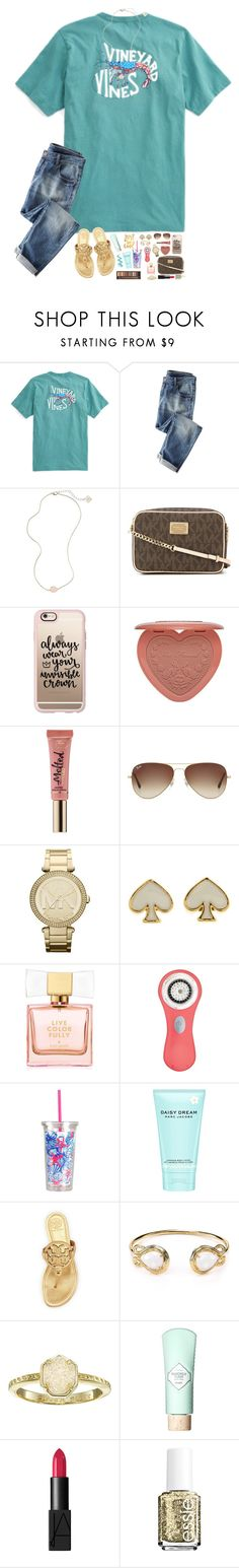 """""""Adventure is out there, only if we choose to seek it..."""" by hopemarlee ❤ liked on Polyvore featuring Wrap, Kendra Scott, MICHAEL Michael Kors, Casetify, Too Faced Cosmetics, Ray-Ban, Michael Kors, Kate Spade, Clarisonic and Lilly Pulitzer"""