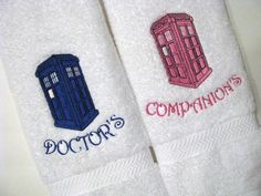 Embroidered Doctor Who Hand Towels By AugustAveThe Perfect Way To Dry Your  Tears As You Watch David Frozen Olaf Bathroom Decal By  LovelyvinylsDeviantArt .