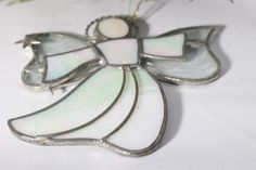 SOLD - Stained Glass Angel Christmas Ornament by DeeSweetNostalgia