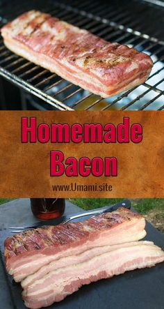 Making homemade bacon is a lot easier than it sounds. All you need is some pork belly and a little time to create thick, juicy, delicious, bacon. Pork Belly Bacon Recipe, Pork Belly Recipes, Curing Bacon, Smoked Bacon, Bacon Bacon, Bacon Meals, Oven Bacon, Smoking Recipes, Pork Dishes