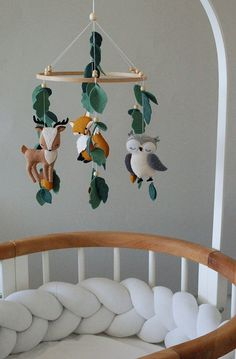 Baby mobile woodland mobile Nursery mobile woodland animals Crib mobile baby girl mobile baby mobile boy hanging mobile - Best Baby Boy Nursery Ideas, Rooms, Tips Baby Boy Nursery Room Ideas, Baby Boy Rooms, Baby Room Decor, Baby Boy Nurseries, Baby Cribs, Nursery Decor, Baby Boys, Baby Bedroom Ideas Neutral, Room Baby