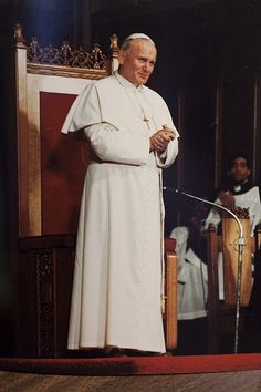 not quite a Saint, almost, :), Bl. Pope John Paul II at Holy Cross Cathedral in Boston, October 1979