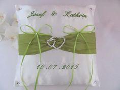 Ringkissen Hochzeit Name Datum creme-grün in Berlin - Spandau | eBay Kleinanzeigen