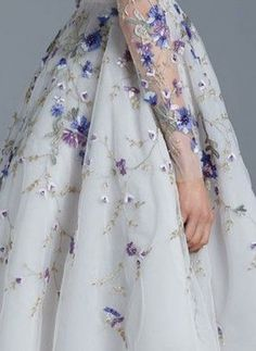 More Dior embroidery. The flowers are so pretty.