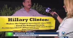 WHEN WILL HILLARY DISAVOW OMAR MATEEN'S FATHER? Man who supports Taliban and extermination of gays shows up at Clinton rally