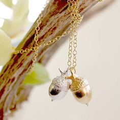 Personalised Acorn Necklace