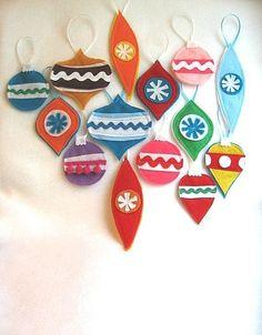 adorable felt ornaments by RikRak via etsy #felt #holiday #christmas