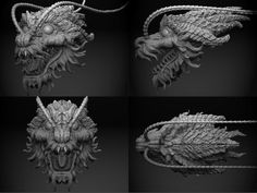 chinese dragon head detail