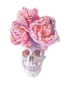 """Limited edition print of my watercolor painting """"Calaca Peonía"""". Archival Pigment Print on Somerset Velvet, Fine Art Paper Acid Free, Cotton Rag Image Size ~ x Total Measurements ~ x Edition Limited to only 50 Prints. Skull Wallpaper, Skull And Bones, Skull Art, Watercolor Paintings, Owl Watercolor, Watercolors, Fine Art Prints, Sketches, Artwork"""
