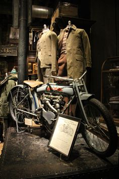 RRL | From Motocyclopedia Museum exhibit, part of the Golden Age of motorcycling celebration at #RalphLauren #RRL #GentlemanMerchant