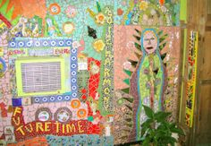 BACKYARD STUDIO WALL Backyard Studio, Mosaic Art, Home Art, Frame, Wall, House, Painting, Home Decor, Homemade Home Decor