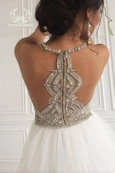 Sparkling wedding dress princess a bright sparkling bodice