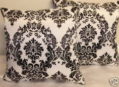 I have similar pillows in my Black & White bedroom~SS