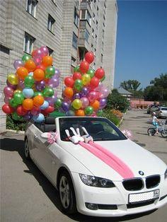 wedding car decoration #10