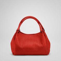 Bottega Veneta bags and Bottega Veneta handbags Bottega Veneta Fire  Intrecciato Nappa Parachute Bag  383 Replica 9edee325f204b