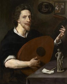 Lanier-unknown painter, sold at Christies.Anglo-Flemish School - Weiss Gallery Portrait of Nicholas Lanier playing a lute. Caravaggio, Narbonne France, Renaissance Music, Baroque Painting, Early Music, The Royal Collection, Virtual Art, Beautiful Paintings, 17th Century