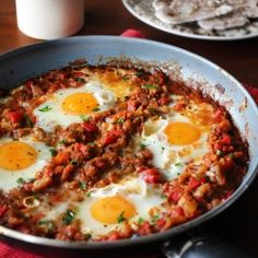 Shakshuka - Eggs poached in tomato sauce