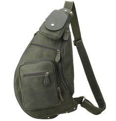 Sling Bags for Men Chest Pack Leather Sling Bags - Canvas Bag Leather Bag CanvasBag.Co Designer Inspired Handbags, Cheap Designer Handbags, Cheap Handbags, Sling Backpack, Sling Bags, Mens Crosses, Black Backpack, Fashion Backpack, Shopping Bag
