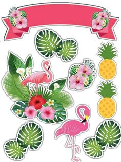 Flamingo Party, Flamingo Cake, Flamingo Birthday, Tropical Cupcakes, Tropical Party, Cupcake Toppers Free, Hawaiian Luau Party, Paper Crafts Origami, Quilling Patterns