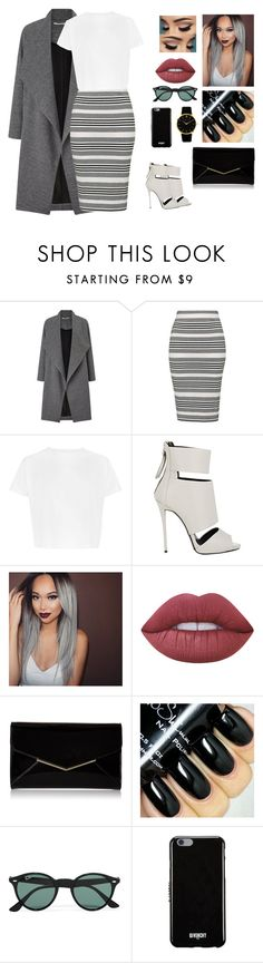 """""""Unbenannt #493"""" by aysuyucel ❤ liked on Polyvore featuring Miss Selfridge, Topshop, Giuseppe Zanotti, Lime Crime, Furla, Ray-Ban, Givenchy and Larsson & Jennings"""