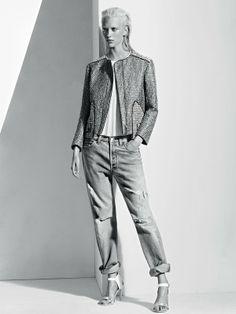 发起-模特 朱莉安娜·舒瑞格(Juliana Schurig)演绎法国时尚品牌 Sandro 2013春季时装