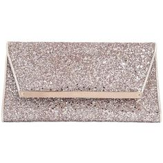 Jimmy Choo Women Margot Glittered Leather Clutch (€540) ❤ liked on Polyvore featuring bags, handbags, clutches, jimmy choo, pink, hand bags, leather clutches, jimmy choo clutches, pink glitter purse and leather purse