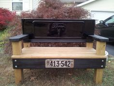 Tailgate Bench Ford V8 by WoodsPhotoShop on Etsy, $599.00