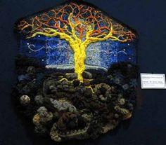 Freeform crochet hangup - I love this! Freeform Crochet, Crochet Art, Irish Crochet, Bruges Lace, Textile Art, Crochet Projects, Needlework, Arts And Crafts, Knitting