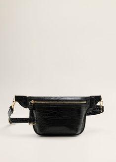 Croc-effect belt bag - Women Bag Women, Motifs Animal, Hip Bag, Manga, Leather Accessories, Animal Design, Leather Bag, Shopping Bag, Printer
