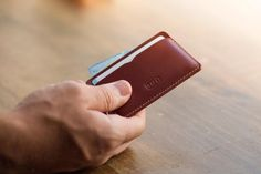 Make it simply, but significant. Panamá Wallet Roasted.Handmade wallet Mens leather