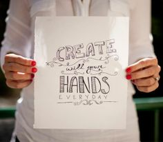Create with your hands, and you'll be happier. #familytreemarket  - Madrid.