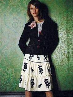 Anthropologie  LITHE First Impression Skirt sz 6 New!  #Lithe #ALine