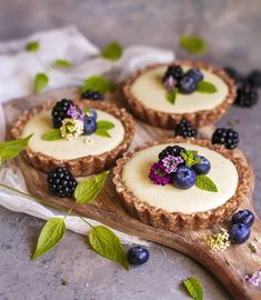 Stunning vegan white chocolate, peanut butter and matcha tarts by Paulina These look amazing 😋 Tart Recipes, Sweet Recipes, Dessert Recipes, Recipes Dinner, Fancy Desserts, Delicious Desserts, Yummy Food, Mini Cakes, Cupcake Cakes