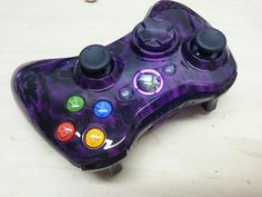 Purple Battered Skulls Xbox 360 Controller from www.KwikBoyModz.com
