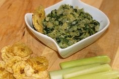 Easy AIP Paleo Spinach Artichoke Dip. Perfect Appetizer that can be whipped up in a few minutes! Perfect for the holidays or those football get together's!