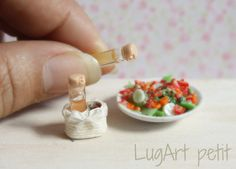 Oil and vinegar Set for dollhouse by LugartPetit on Etsy,