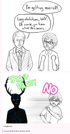Will does not approve of Hannibal's stag party.