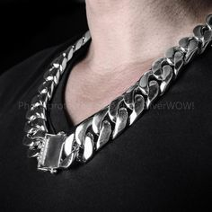 Huge Thick Rope Necklace Chain - one of the biggest you will find anywhere. We Also make Very Heavy Silver Rope Bracelet @ Silverwow Mens Silver Chain Necklace, Silver Chain For Men, Mens Silver Jewelry, Mens Silver Rings, Chains For Men, Silver Man, Men Necklace, Silver Necklaces, Necklace Chain