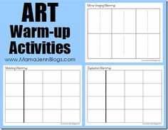 Last year for art, my daughter used Drawing with Children by Mona Brookes. One of the suggestions in the book was to do some specific art warm-up activities. These allowed for practice with duplication, matching, and mirror imaging. In order to make