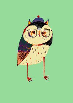 Owl Cutey. Stretched Canvas