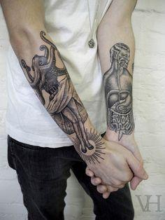 Tattoos by Valentin Hirsch › octopus lady tattoo by valentin hirsch