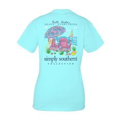Simply Southern Prep Salt Water Heals Everything T- Shirt