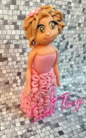 Quinceañera cake topper - sweetthingsbywendy.ca Quinceanera Cakes, Princess Peach, Cake Toppers, Cupcake Cakes, Sweet, Character, Candy, Cupcakes, Cupcake