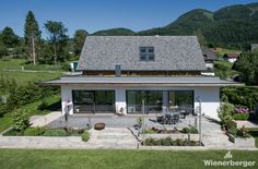 Single Family House in Styria, Austria Roof Tiles, Building Materials, Single Family, Brick, Indoor, Patio, Colours, Architecture, Grey