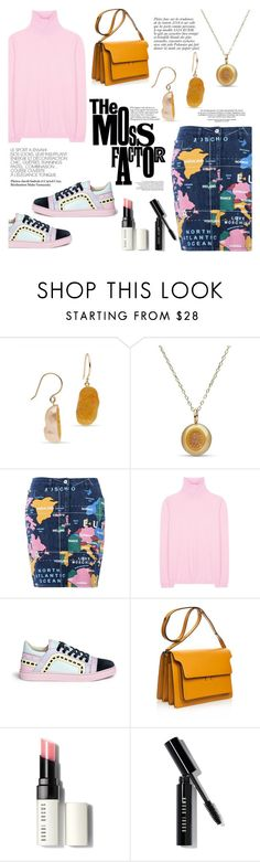 """""""Golden south sea by Little h Jewelry"""" by littlehjewelry ❤ liked on Polyvore featuring Anja, Love Moschino, Jil Sander, Sophia Webster, Marni, Bobbi Brown Cosmetics, women's clothing, women's fashion, women and female"""