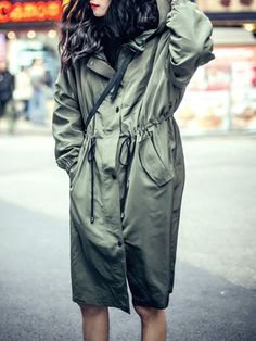 Viantage Lustre Fabric Trench Coats