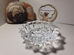 Vintage Cut Crystal Small Round Ashtray *NO RESERVE*