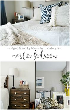 Master bedroom updates on a budget. Tons of ideas to create a beautiful space without breaking the bank. MyFabulessLife.com