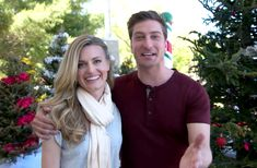 """Go behind the scenes of """"Christmas in Love"""" starring Brooke D'Orsay and Daniel Lissing. Brooke D'orsay, Jack Thornton, Daniel Lissing, Hallmark Movies, Love Stars, Girlfriends, Behind The Scenes, Actors, Bride"""