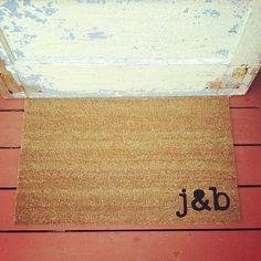 Custom Initials Doormat. m&b